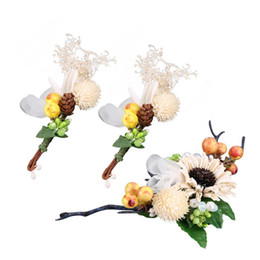 flower girl floral headpieces Coupons - 1 Set of Wedding Bridal Floral Handmade Flower Crown Headpiece Hair Wreath Headband for Women Party Festival Girl