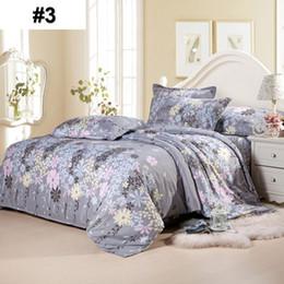 biancheria da letto in oro rosa Sconti Biancheria da letto di lusso Set Copripiumino 4 pezzi Re Cotone Lenzuolo Lenzuolo Federa Home Hotel Regalo