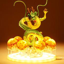 2019 iluminação de prateleiras DBZSAIYAN 17 cm USB Dragon Ball Shenron Lâmpada de Cabeceira Dragon Ball Figura Luz Da Noite Shenlong + 7 pcs 3.5 cm Bolas + Acrílico Prateleira DBZ Y190529 desconto iluminação de prateleiras