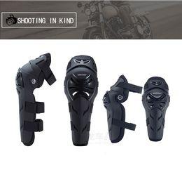 Rodilleras motocicleta codo rodilleras online-Armadura de motocicleta Moto Vehículo todo terreno Equipo de conducción A prueba de viento Rodilleras resistentes a roturas en frío Equipos para el codo Ropa de ciclismo profesional