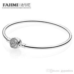 Sterling silber edelstein armbänder online-FAHMI 100% 925 Sterling Silber Limitierte Kollektion Rose Intarsien Edelstein Elegante Damen Armband Geeignet Geschenk 590748CZ
