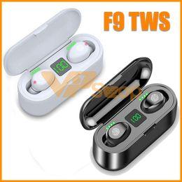 casque q7 Promotion F9 TWS Écouteurs Sans Fil Bluetooth V5.0 Écouteurs Bluetooth Casque Affichage à LED Stéréo Écouteurs Avec 2000 mAh Cas De Charge Casque