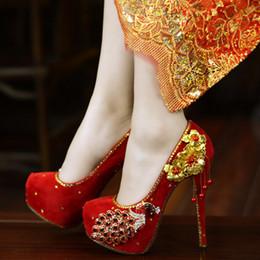 scarpe abito su misura Sconti Red abito da sposa le scarpe di lusso sposa realizzati a mano con strass Diamante economico tacco a spillo Big di piccola dimensione da 34 a 40 Colore personale ordine o