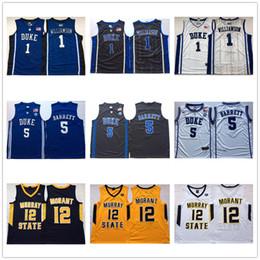 NCAA Sion Williamson New Jersey RJ Barrett Duke Blue Devils alta calidad cosido estado de Murray Ja Morant Escuela de Baloncesto jerseys desde fabricantes