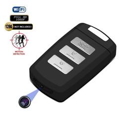 Wholesale HD K Wifi llave de coche Cámara Full HD p H2 llavero de coche mini grabadora de video soporte de cámara de detección de movimiento seguridad para el hogar videocámara
