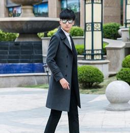 mens langer grauer wollmantel Rabatt Herrenbekleidung plus Größe langen Entwurf der dünnen beiläufiger Wollmantel Mens zweireihige Wollmäntel Oberbekleidung grau moderne städtische Mode