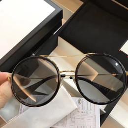 Design redondo de embalagens on-line-Gucci 0061 Óculos De Sol De Luxo Para As Mulheres Deisnger Rodada Moldura Completa UV400 Lens Estilo Verão Hexágono Quadro Design Clássico Vem Com pacote