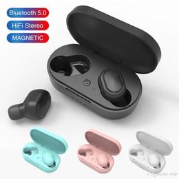 caramelo bluetooth Rebajas Feliz M1 Bluetooth auriculares inalámbricos auriculares de comunicación 5.0 TWS auricular del micrófono con cancelación de ruido para el teléfono móvil AURICULARES COLOR CARAMELO