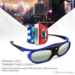 2019 optoma projetor dlp DLP Projetor 3D Óculos de Bateria Universal 96-144 HZ Para Optoma BenQ Acer 3DTV Azul Doméstico desconto optoma projetor dlp