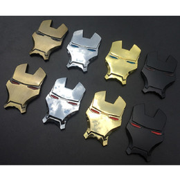 2019 voitures pontiac Iron Man Métal 3D Chrome Car Emblem Décoration Stickers The Avengers Car Stickers Accessoires Style extérieur voitures pontiac pas cher