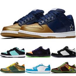 2019 zapatos de lona del arco iris de las mujeres Zapatos nueva SB Dunk Low fuente del diamante de los hombres Deportes Pigeon Doernbecher oro del monopatín Zapatos Panda Halloween de la travesura Raygun lazo mujeres zapatillas de deporte