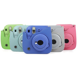 Bolsa de la caja de la cámara para Fujifilm Instax Mini 9 Cámara protectora PU Funda de cuero Accesorios de la cámara 2019 desde fabricantes