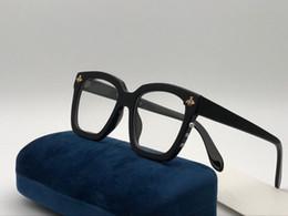 Lunettes hd en Ligne-Nouveau designer de mode Optique lunettes 0409 cadre carré populaire style top qualité vente HD lentille claire Lunettes de style simple avec boîte
