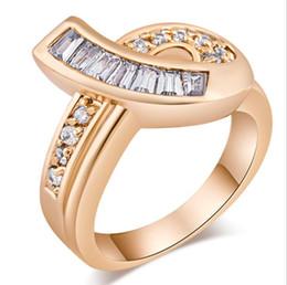 Loja de ouro 18k on-line-Anéis de ouro para as mulheres Online shop china atacado Moda Senhoras Anéis Jóias 18k Ouro Nupcial Anel De Casamento De Diamante