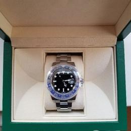 оригинал люкс Скидка Недавно перечисленные V3 версия Batman Deluxe часы 40 мм Керамический вращающийся безель синий лупа Азия 2813 механизм с автоподзаводом оригинальный Застежка