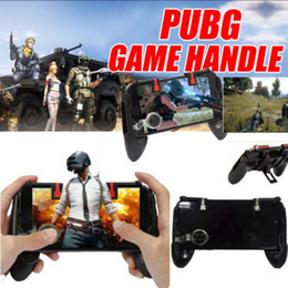 alças de telemóvel Desconto New Joystick Gaming Handle Titular controlador Mobile Phone + Shooter Para PUBG Fortnite