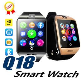 Reloj de pulsera de pc online-1 UNIDS 2019 Q18 Reloj Inteligente Más Reciente Venta Bluetooth Cámara GSM Tarjeta TF Reloj de Teléfono para Android Adecuado para Niños Hombres niña
