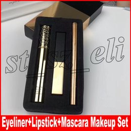 Mascara cosmetica online-Famous Lip 3 in 1 set de maquillaje Eyeliner + Matte Lipstick 21 # + Mascara Kollection Make Up Cosmetic Kit