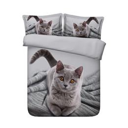 3 pezzi Cute Animal Girls Girls Bedding con chiusura a cerniera coperchio Consolatore con 2 cuscini Shams Home Textile Gattini gialli Stampa da