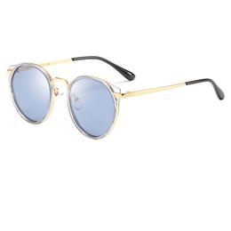 caso delle vetri delle ragazze Sconti Occhiali da sole rotondi del progettista del marchio di qualità superiore occhiali da sole della ragazza del ragazzo occhiali da sole dei bambini dei retro occhiali da sole dell'oro degli occhiali da sole cassa e scatola liberi