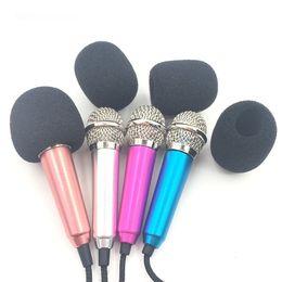 2019 microfones de bobina móvel Handheld Mic Portátil Mini 3.5mm Estúdio Estéreo Microfone de Fala Microfone De Áudio Para Telefone Móvel Inteligente