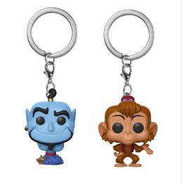 deus da lâmpada Desconto animação lâmpada, cinema e vídeo de Aladim torno Funko POP Abu lâmpada macaco deus pingente keychain