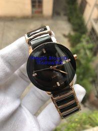 2019 relógios de luxo Unisex Relógios De Luxo Senhora Famosa Marca Moderna dos homens Moda Qaurtz Preto Relógio De Cerâmica Das Senhoras Casuais Designer Mens Relógio Do Esporte 37mm desconto relógios de luxo