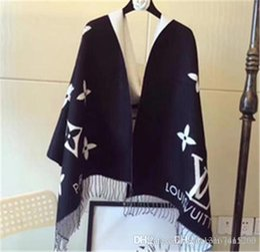 Designer de Inverno Caxemira Cachecol Pashmina para Mulheres e Homens Moda Desgaste Duplo Quente Cobertor Cachecóis Cachecóis Cachecol De Algodão De Cashmere de