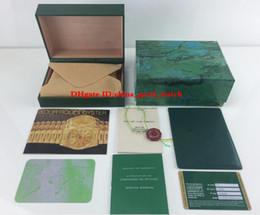 Топ Высокое Качество Смотреть Зеленый Оригинальная Коробка Карты Деревянные Ящики Для Вечной 116900 126710 126600 126719BLRO Часы Наручные Часы от