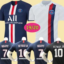 Juegos de kit de fútbol online-Camiseta de fútbol de Tailandia maillots PSG AIR JORDAN soccer jersey 2018 2019 2020 París MBAPPE CAVANI VERRATTI saint germain 18 19 20 chandal de fútbol campeones uniformes nike