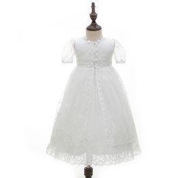 Argentina Nuevo partido del cordón de la niña de vestido de boda y bautizo vestidos niñas 1º 2º cumpleaños equipos del bebé vestido de bautismo B113 Suministro