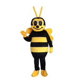 Hornet Bee Mascot Costume Smile Bee Fancy Costume Mascotte Costumes For Halloween Party от Поставщики одежда из зеленого яблока