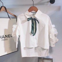 i bambini migliori prua Sconti camicia per bambini Abbigliamento firmato per bambina camicia a maniche lunghe in pizzo con fiocco rosa bianco dolce camicia in tessuto di cotone carino nuovo best