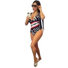 Nadar para as mulheres on-line-Mulheres Fends One Piece Biquíni Swimsuit Designer De Luxo Swimwear Duplo F FF Listrado Swim Ternos Monokini Marca Swim Beach Wear Roupas C52906