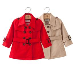 Прохладный ремни мальчиков онлайн-Классическая мода для детей куртка пальто ремень сплошной плащ для 1-6 лет дети мальчики девочки круто верхняя одежда
