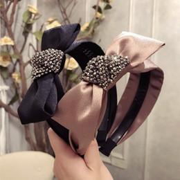 coroas de tecido Desconto Flores Feitas À Mão De Tecido De Cristal Retro Acessórios Para o Cabelo Faixa de Cabelo Diamante Arcos de Flores Coroa Headbands Para As Mulheres 4