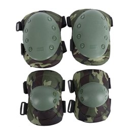 Tactical Military 2 * Elbow Brace + 2 * Knee Protective Pads Paintball Skate Combat # 232278 da