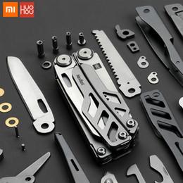 2019 antirughe a distanza Xiaomi huohou multi-funzione coltello pieghevole apribottiglie cacciavite pinze in acciaio inox coltelli esercito caccia campeggio esterno