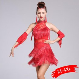 US $7.99  New Women Plus Size Latin Dance Dress Fringe Ballroom Dance Competition Dresses Lady Modern WaltzTangoCha ChaSalsa Costumes cha cha salsa