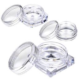 10 Unids Transparente Pequeña Botella 2g / 2.5g Cosmético Vacío Tarro Sombra de Ojos Labio Crema Facial Envase de Muestra desde fabricantes