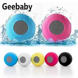 Colunas de som bluetooth on-line-Geebaby alto-falante portátil sem fio Bluetooth alto-falante à prova d 'água do chuveiro alto-falante do carro mãos-livres Bluetooth para banheiro ao ar livre parede de suspensão