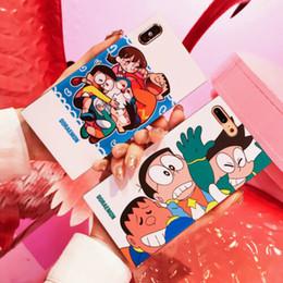 telefones doraemon Desconto Presente bonito Dos Desenhos Animados Doraemon Quadrado Caso TPU Borracha Macia Ultra Fino À Prova de Choque de Volta telefone shell capa para apple iphone xs max xr x 8 7 6 s além de