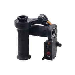 Pantalla de voltaje de la motocicleta online-Calentador de la mano de la empuñadura de empuñadura calefactada de la motocicleta 65-85 ° C con pantalla de voltaje