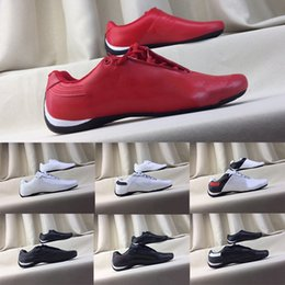 locomotive shoes Coupons - 2019 Errari Locomotive Shoes Future Cat Leather SF Casual Shoes Mens Women Triple White Black Red Fashion Drive Designer Men Sneakers 37-45
