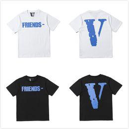 2019 батареи для мобильных телефонов на продажу Новый стиль роскошный дизайнер Vlone Friends футболка Женщины Мужчины футболки Хип-хоп Скейтборд Хлопок футболка Летняя футболка мужская одежда