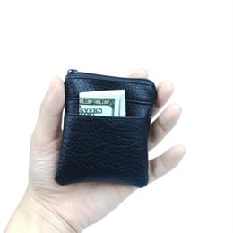 2019 простой кожаный брелок 2018 Fashion Pu Leather Cheap Coin Purse Women Men Small Mini Short Wallet Bags Change Little Key Holder Business