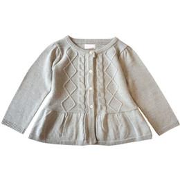 Canada nouveau printemps solide couleur bébé filles chandails froncé enfants vêtements manteau enfants en bas âge enfants tricoté cardigan chandail cheap ruched cardigan sweater Offre