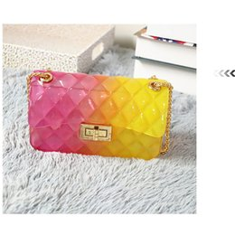 ladies creams Promo Codes - TIKO BAG 2019 Summer PVC Colorful Bag Plaid Jelly Designed Candy Color Ladies Chain Handbags femme Women Crossbody Shoulder