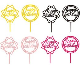 cupcake papers wedding Promo Codes - Cupcake Topper Kid Party Supplies Wedding Paper Cake Topper Happy Birthday Decor Baby Shower Favor Free Shipping