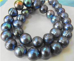 collane di perle nere del sud del mare Sconti Gioielli collana di perle ENORME NATURALE MARE DEL SUD 18